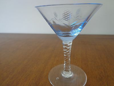 Vintage martini or cocktail glass found in an old house in 1970