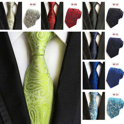 Multi-Style Polyester 18 Color Men's Tie Jacquard Paisley Pattern Fashion VCX7