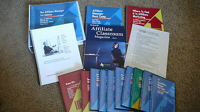 """NEW """"The Affiliate Manager – 1st Edition"""" by Anik Singal DVD CD Workbooks Bonus"""