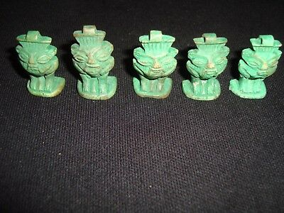 WOW! Lot of 5 Rare Ancient Egyptian Faience god of BES Amulet 1549-1069 BC