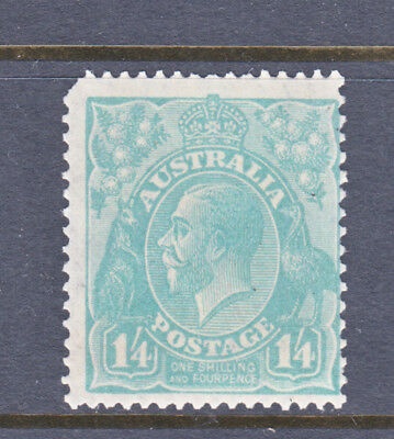 Stamps Aust Kgv 1/4 Small Multi Perf 13.5-12.5 Muh Perfs Corner Lhs Missing
