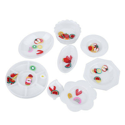33pcs/Set Doll Kitchen Dinner Mini Tableware Miniatures Cup Plate Dish Toys