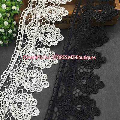 1 Yard Crochet Embroidered Lace Trim Ribbon For Dress Sewing Craft Decor FP137