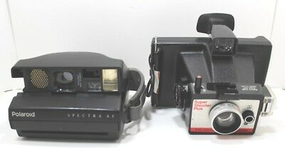 Polaroid Cameras Lot Of 2 For Parts or Repair Untested