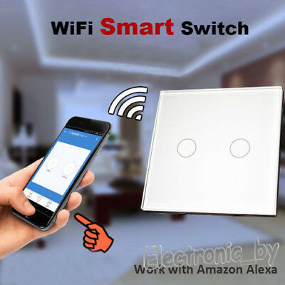 Wifi Smart Wall Light Switch Touch  Work with Amazon Alexa controlled by phone
