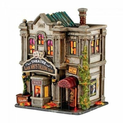 NEW Dept 56 Halloween Village LOOK WHO'S TALKING NOW THEATRE 4051010 Lighted!