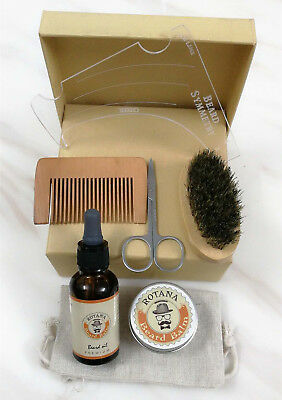Beard and Mustache Grooming Kit-Oil,Balm, Brush,Comb etc.Care Kit