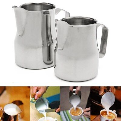 Stainless Steel Coffee Milk Latte Jug Frothing Espresso Pitcher 350/600/1000ML
