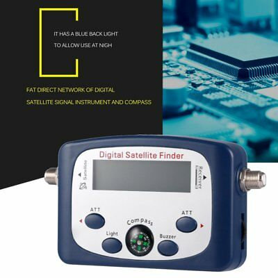 Mini Digital Satellite Finder LCD Satellite Signal Finder Meter With Compass ID