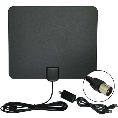 Thin Flat Indoor TV Antenna HD High Def TV Scout TV Fox Style HDTV VHF UHF DTV