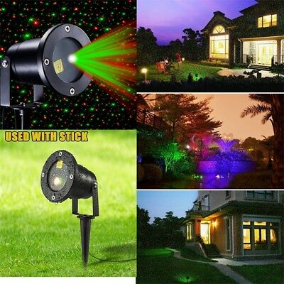 Moving LED Laser Projector Lamp Landscape Star Lights Halloween Xmas Party AU