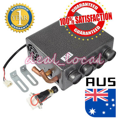 12V Copper Underdash Compact Heater Heat + Speed Switch Defroster Demister