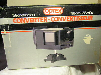 OPTEX VS617 Telecine Teleprint CONVERTER Transfers photos,slide,film 2 VIDEO NIP