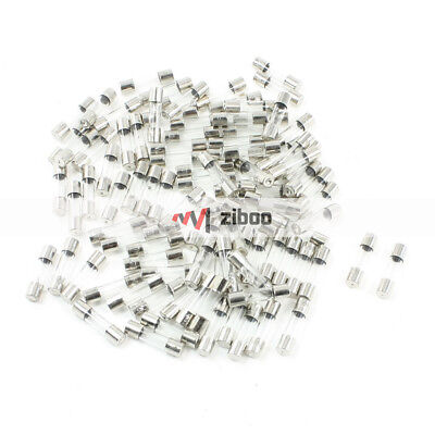 100 Pcs 250 Volts 2Amp Fast Blow Type Glass Tube Fuses 5 x20mm Silver Tone Clear