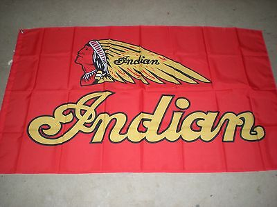 Indian Motorcycles Logo 3' X 5' Flag New