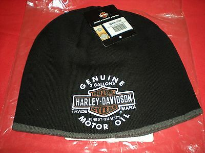 Genuine Harley Davidson Oil Can Reversible Knit Beanie New