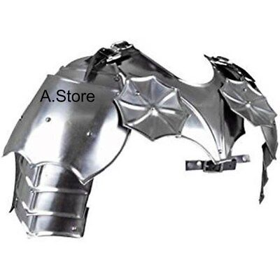 Gothic Armour Gorget with Pauldrons Silver- One Size