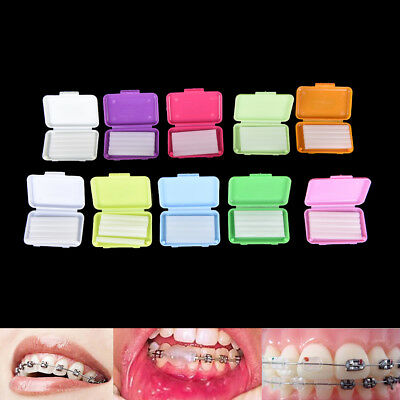 2 Pack Fruit Scent Dental Orthodontics Ortho Wax For Braces Gum Irritation