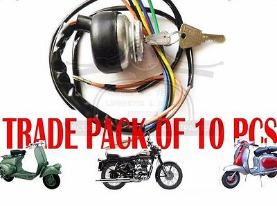 LAMBRETTA IGNITION SWITCH AC GP LI SX TV SCOOTERS PACK OF 10 UNITS @AEs