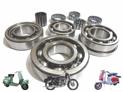 LAMBRETTA GP LI SX TV 125 150 200  SERIES 1, 2 &3 ENGINE BEARING KIT @AEs