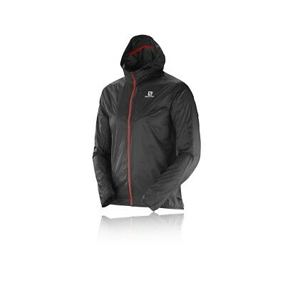 Coupe Vent Homme Salomon Fast Wing Hoodie Black