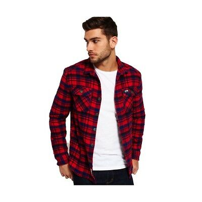 Chemise Superdry Milled Flannel Ontario Navy Check