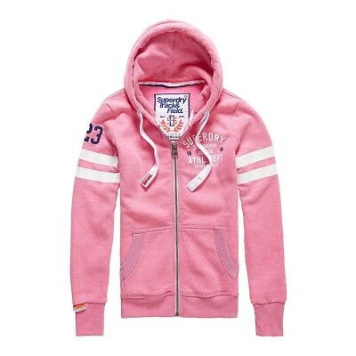 Sweat Superdry Track&field Lite Ziphood Pink Sorbt