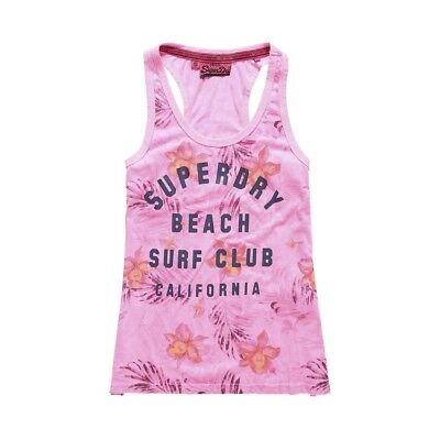 Débardeur Superdry Surf Club Aop Overdyed Vest Pnk