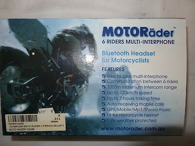 Motorcycle Intercom, bike to bike intercom and passenger to rider intercom