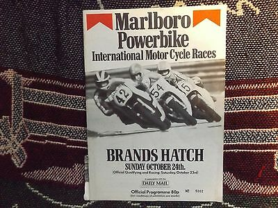 1982 Brands Hatch Programme 24/10/82 - Marlboro Powerbike International