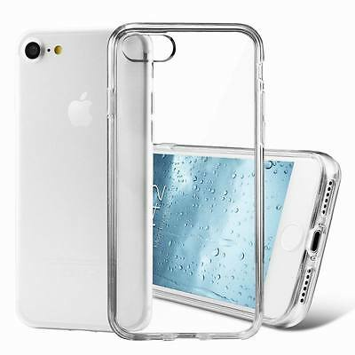 For iPhone 8 7 6s Plus X Case Silicone Clear Cover Bumper Rubber Protective TPU
