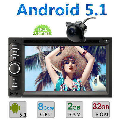 """Android 5.1 6.2"""" Double 2Din Car Radio Stereo DVD Player GPS Nav BT WiFi In Dash"""