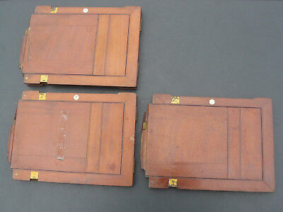 Early Photography - 3 x Double Dark Slides