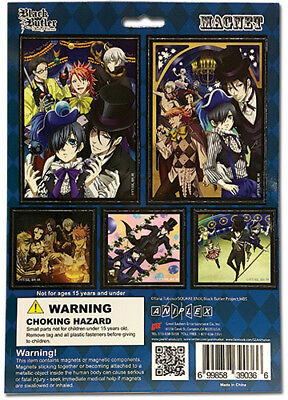 **Legit** Black Butler Book of Circus Ciel & Sebastian Group Magnet Set #39036
