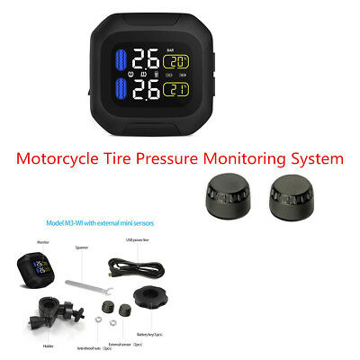 TPMS LCD Display Wireless Tire Pressure Monitoring System For Motorcycle Scooter