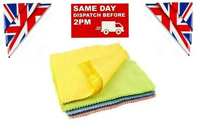 10 x Microfiber Micro Fibre Camera Lens Glasses Phone Cleaning Cloths 6cm x 8cm
