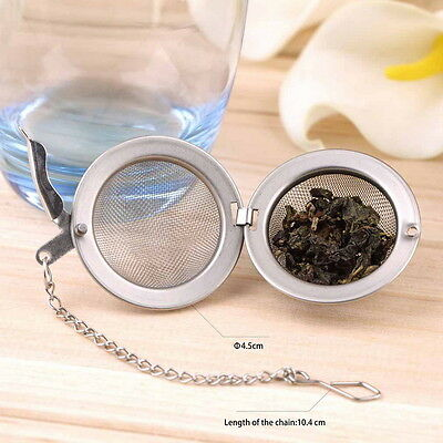 Stainless Steel Kettles Infuser Strainer Tea Locking Spice Egg Shaped IT