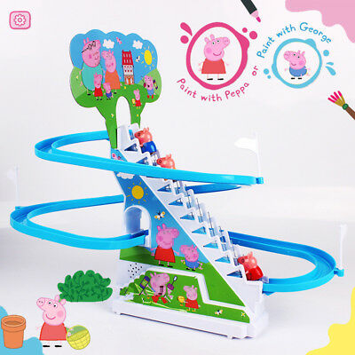 Peppa Pig Theme Music Stairs Figures Toys+ Accessory Busy Pack For The Kids Gift