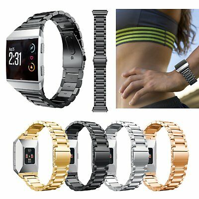 Stainless Steel Link Bracelet Smart Watch Band Strap for Fitbit Ionic Tracker