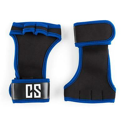 Size L Capital Sports Palm Pro Weightlifting Gloves Cross Lifting Black/blue