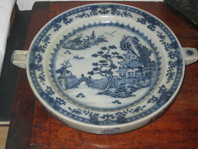 Antique Chinese Blue & White Warming Plate