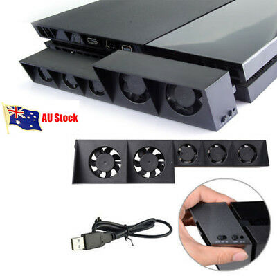 5-Fan USB Cooling External Super Turbo Fan For Playstation4 PS4 Game Console