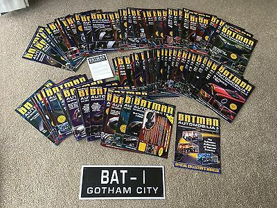 Batman Automobilia Eaglemoss Collection Complete Set All 85 & Special Issues