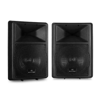 """Pair 12"""" Powered Pa Disco Dj Speakers 1100W Abs Outdoor Indoor Events 5-Band Eq"""