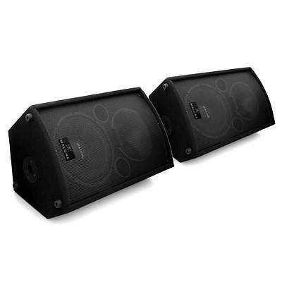1100W Pair Active Powered Dj Pa Disco Speakers Amplified Concert Stage Monitor