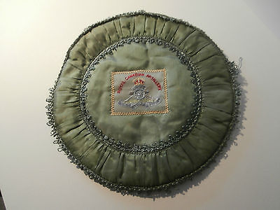 Ww1 Souvenir Sweetheart Embroidered Cushion Cover - Royal Canadian Artillery