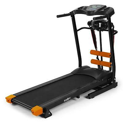 Black/orange Motorised Electric Treadmill Running Machine Fitness Exercise Save
