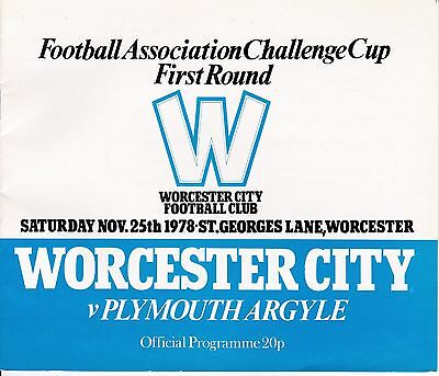 Worcester City v Plymouth Argyle FA Cup 1st Round 1978/79