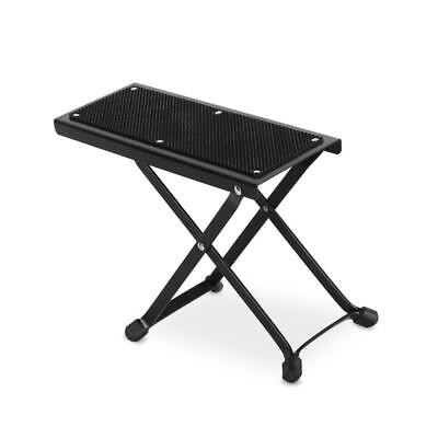 Malone St-5-Fs Adjustable Metal Guitar Foot Stool Foot Rest Non Slip Surface