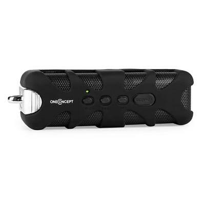 Portable Compact Water Resistant Bluetooth Speaker Aux Built In Battery - Black